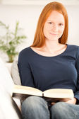 Young Woman with a Book — Stock Photo