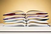 Open Textbooks on a Desk — Stock Photo