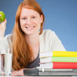 Happy Student with a Healthy Snack — Stock Photo #33671489