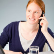 Business Assistant or Secretary on the Phone — Stock Photo #34111737