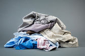 Laundry - Pile of Clothes — Stock Photo