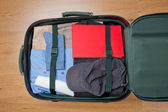 Top View of a Packed Suitcase — Stock Photo
