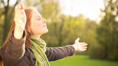 Worship with Open Arms — Stock Photo
