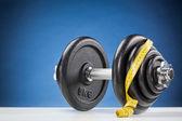 Тяжелые весы с рулеткой — Стоковое фото