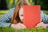 Student with a Textbook — Stock Photo