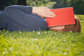 Student Tired from Reading — Stock Photo
