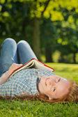 Leisure Reading in a Park — Stock Photo