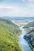 Summer Landscape View of River Saar — Stock Photo