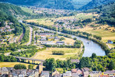 River Saar and city of Saarburg, Germany — Stock Photo
