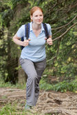 Woman Hiking a Trail in Summer — Stock Photo