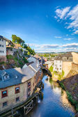 Houses and River in Saarburg, Germany — Stock Photo