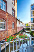 Water Canal in the Town Center of Saarburg — Stock Photo