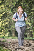 Active Tourism - Woman Hiking — Stock Photo