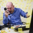 Angry Man Screaming in the Phone — Stock Photo