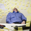 Exhausted Businessman — Stock Photo