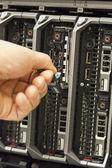 Installare il disco rigido del server — Foto Stock