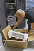 IT Engineer Installing New Router — Stock Photo