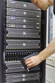 IT Consultant Maintain SAN and Servers — ストック写真