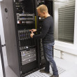 Stock Photo: IT Consultant Install Blade Server