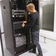 IT Consultant Install Blade Server — Stock Photo #28018131