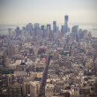 Aerial View of Manhatten — Stock Photo