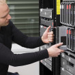 IT Consultant Maintain Blade Server in Datacenter — Stock Photo #28026167
