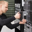 IT Consultant install new Blade Server — Stock Photo #28026173