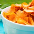Fresh Bowl of Potato Chips — Stock Photo