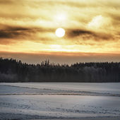 Sunrise a Cold Morning — Stock Photo