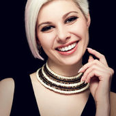 Glamourous Young Woman with a Beautiful Smile — Stock Photo