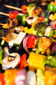 Healthy Skewers on the Barbecue — Stock Photo