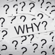 Why and question marks — Stock Photo