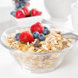 Healthy breakfast with muesli and fresh berries — Stock Photo