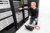 It consultant work with blade servers — Foto de Stock