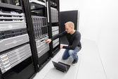 It consultant work with backup in datacenter — Foto de Stock