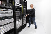 It professional install rack server in datacenter — Foto de Stock