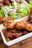 Barbecue grilled chicken — Stock Photo