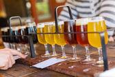 Beer tasting — Stock Photo