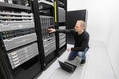 It consultant work in datacenter — Stock Photo