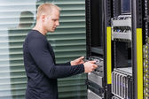 It professional working in datacenter — Stock Photo