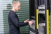 It-professionals werken in datacenter — Stockfoto