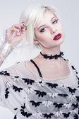 White look woman model — Stock Photo