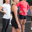 Young women at crossfit training course — Stock Photo #47391903