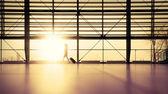 Traveler in airport terminal — Stock Photo