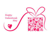 Valentines background with the hearts — Vettoriale Stock