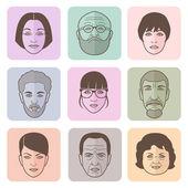 люди символы — Cтоковый вектор