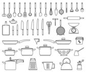 Kitchen tools and utensil — Stock Vector