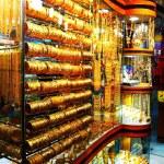 Gold market souk in Dubai — Stock Photo