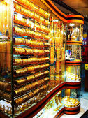 Gold market souk in Dubai — Stock Photo