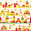 Seamless pattern with houses for childrens background. Seamless — Stock Vector #28929551